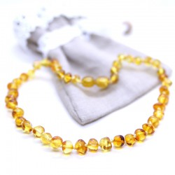 Baroque style, amber necklaces