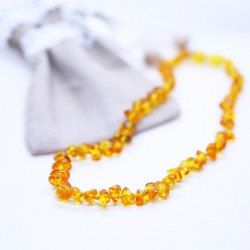 Nuts style, amber necklaces