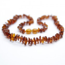 Split style, amber necklaces